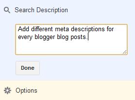 Add Search Description in Blogspot Blogs