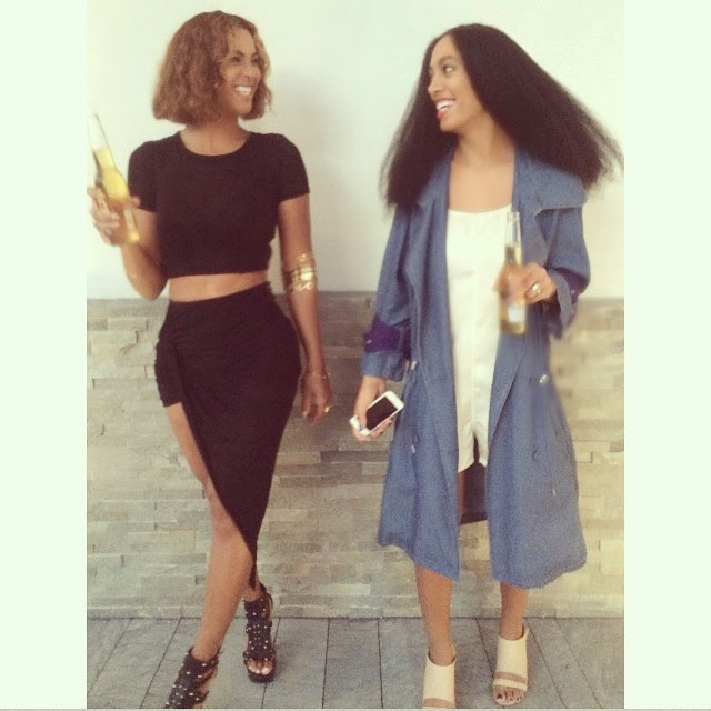 Family Time! Beyonce and Solange Strike a Pose Together
