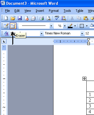 how to delete rows from a table in microsoft word
