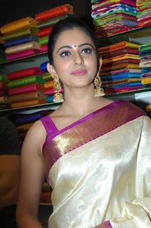 Rakul Preet Singh Beautiful Saree Picture