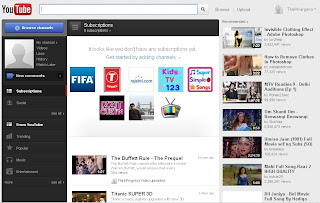 photo of home page of youtube , beautiful wallpaper of youtube homepage.