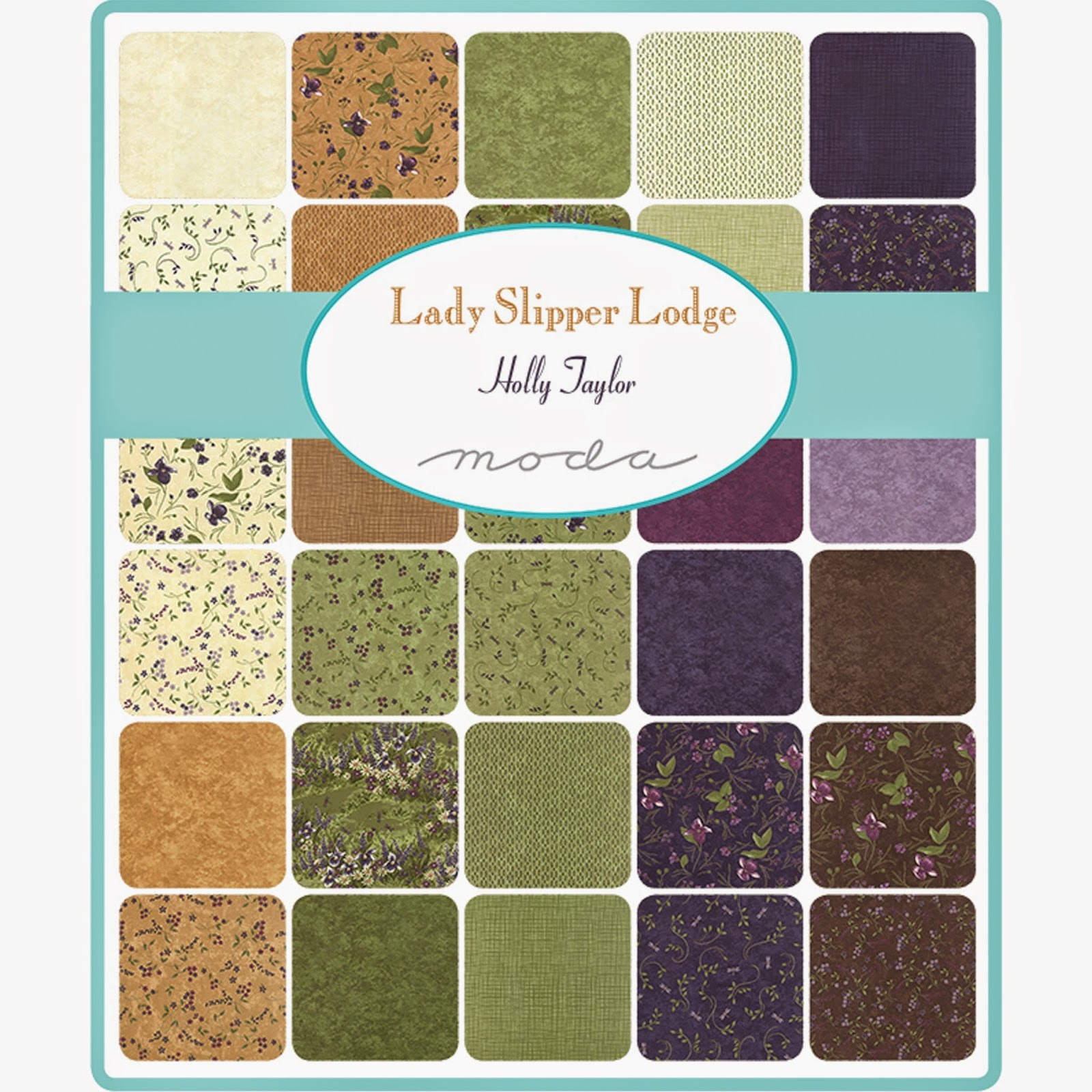 Moda LADY SLIPPER LODGE Fabric by Holly Taylor for Moda Fabrics
