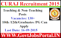 CURAJ Recruitment 2015