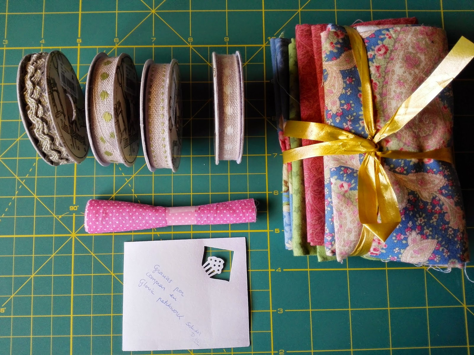 cintas, paquete de 4 telas, tardesconalma.blogspot.com
