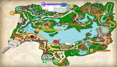 Mapa Isla Mágica 2012 viajes y turismo