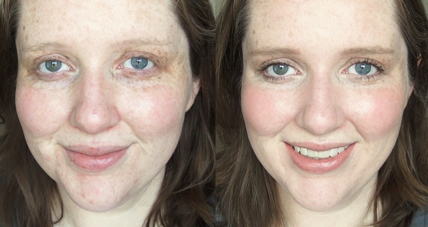 No makeup before and after