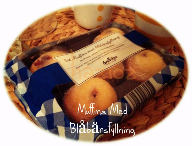 muffins med blåbärsfyllning