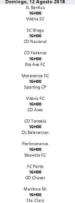 Liga Nós 2018-2019 1ºJornada