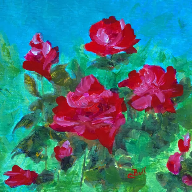 Rose Garden painting by Claire Bull