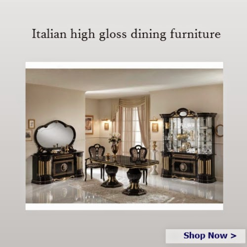 Italian high gloss dining furniture sets - Homegenies