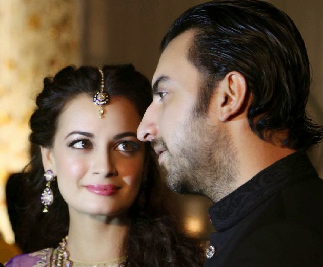 Dia Mirza and Sahil Sangha's engagement pics