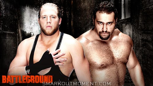 WWE Battleground PPV 2014 Rusev defeats Swagger results