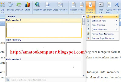Cara Menambahkan Nomor Halaman di Lembar Kerja Microsoft Word, Microsoft Word, AmatooKomputer1
