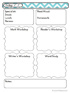 Day at a Glance Daily Lesson Planning {Lesson Plan Template ...