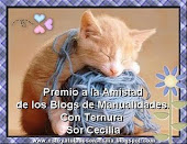 PREMIO A LA AMISTAD DE BLOGS DE MANUALIDADES