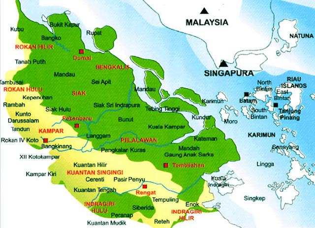 Nama Kabupaten dan Kota Provinsi Riau