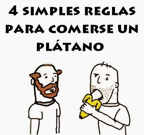 4 simples reglas para comerse un plátano