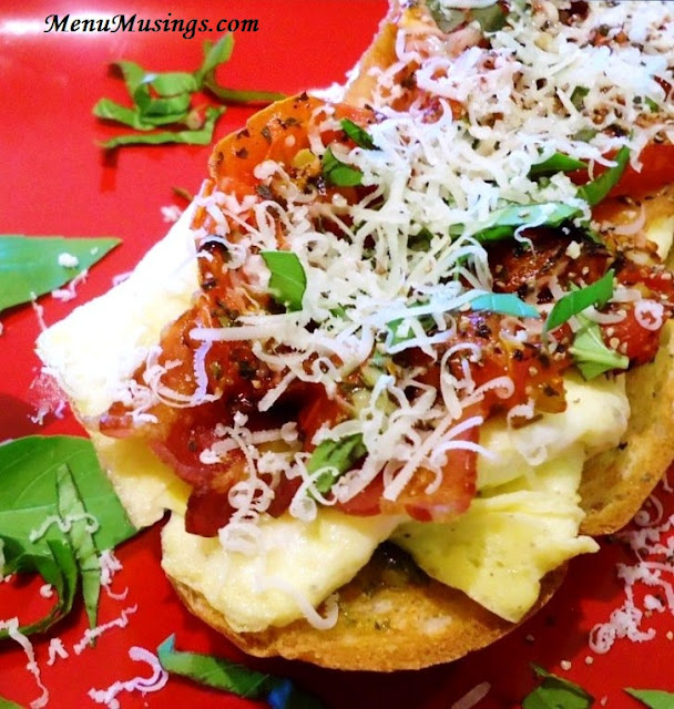 Roasted Tomato and Basil Brunch Sandwich