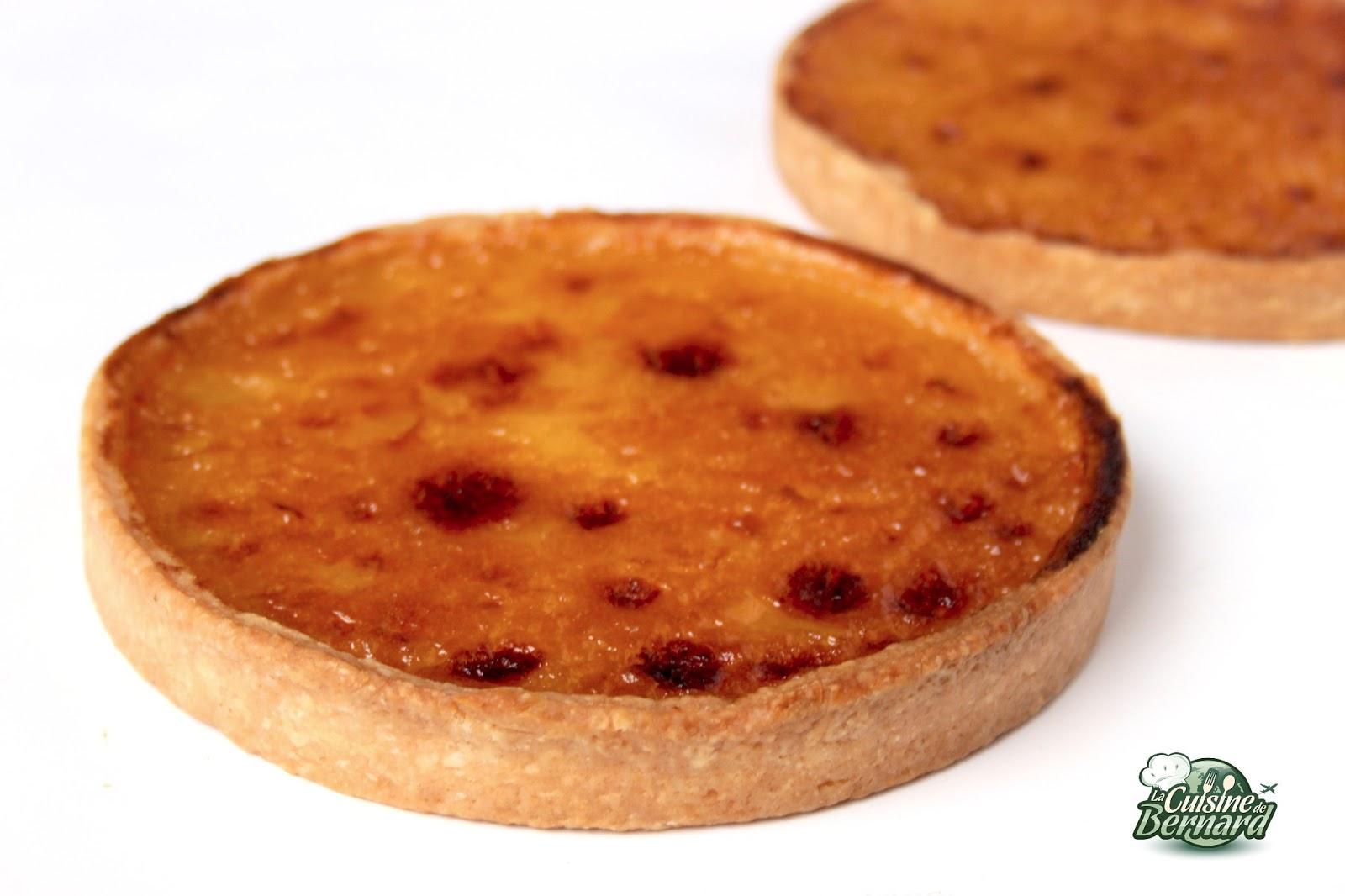 La cuisine de bernard tarte au citron la cr me cuite - Cuisine de bernard tarte au citron ...