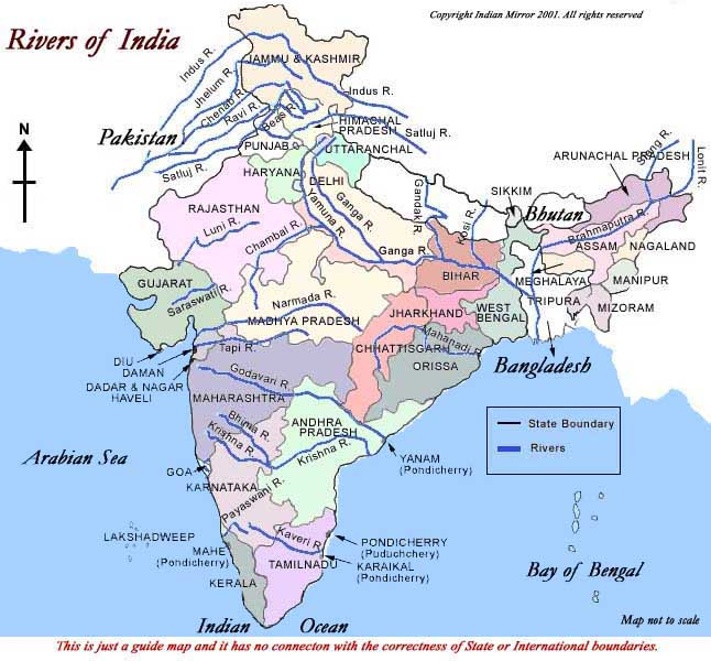Indian Rivers and Settlement Quiz