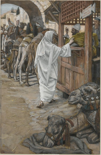 The calling of St. Matthew - by James Tissot