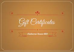 B&B Gift Certificates Online!