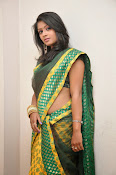 glamorous Anu Sri saree photos-thumbnail-14