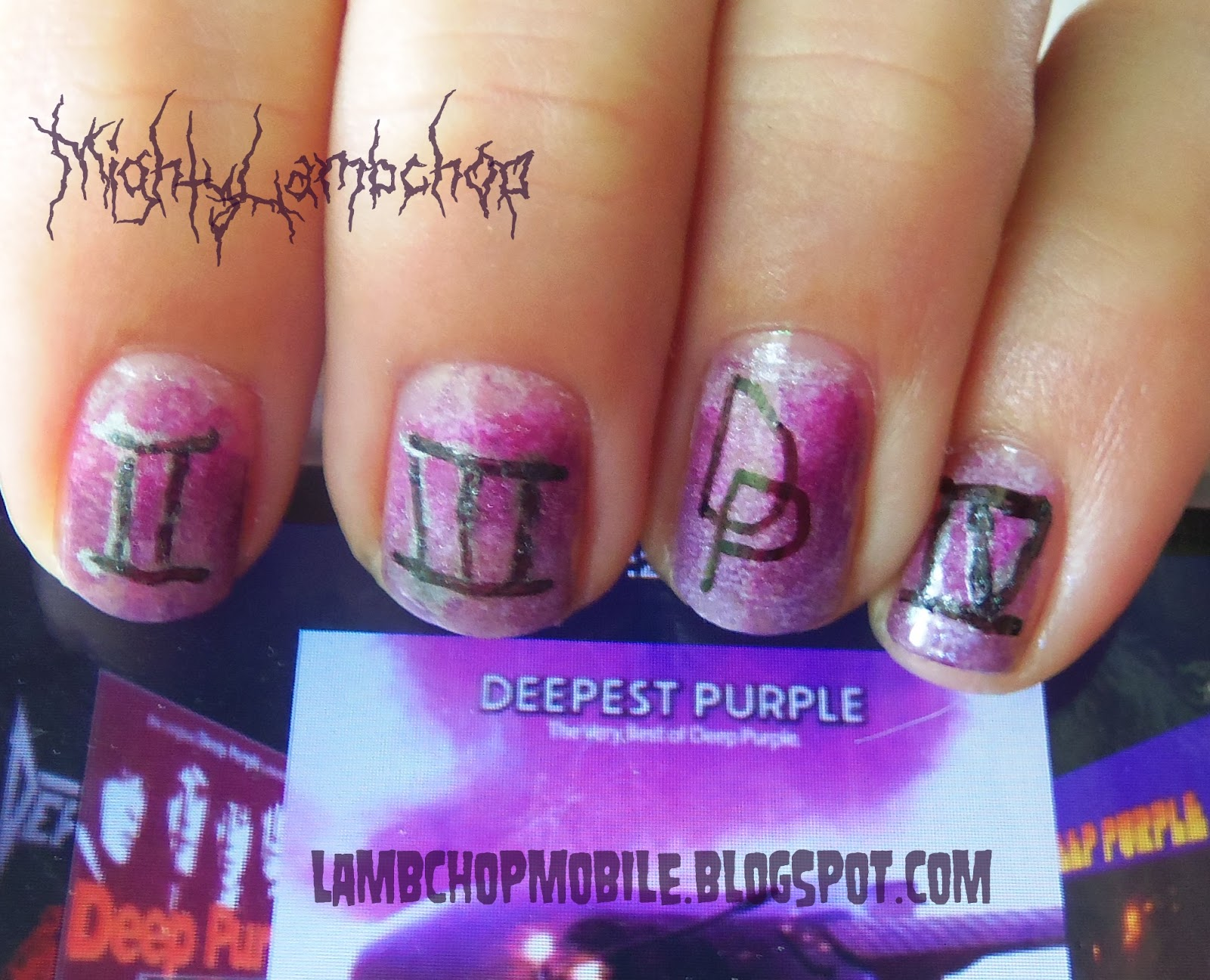 Deep Purple Nail Design ~