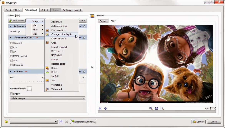 XnConvert v1.63  圖片轉檔工具