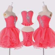 Short Red Prom dress with price