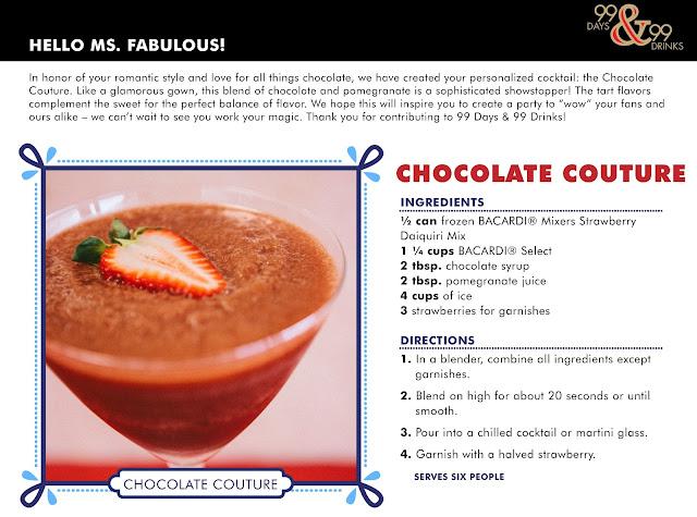 chocolate fashion cocktail