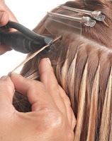 Mega hair com queratina