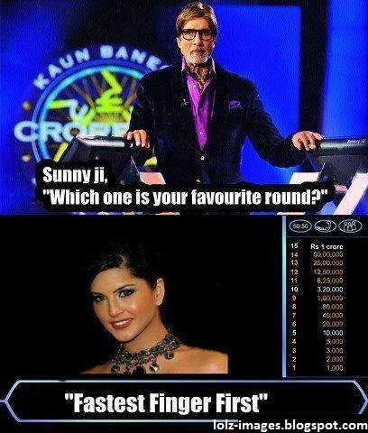 Fastest Finger First Sunny Leone Funny Picture