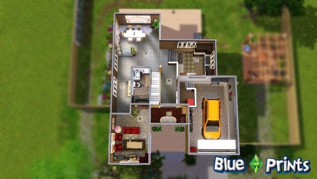 Sims 3 Modern House Floor Plans