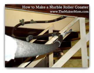 how to make a marble roller coaster with foam insulation pipe