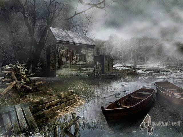 resident evil 4 re4 map lake water landscape