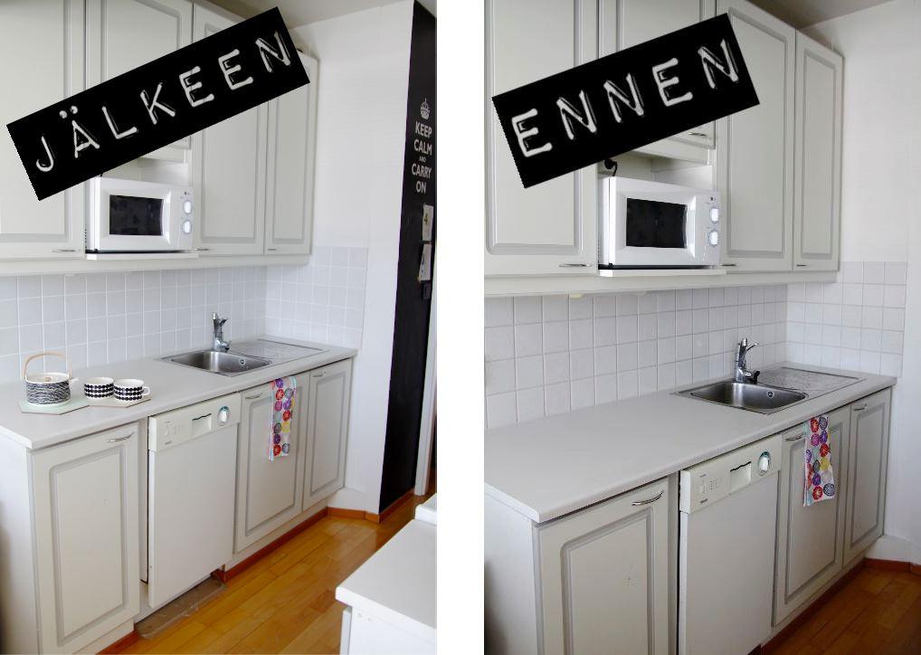 Sisätiloissa Hohtavat saumat keittiössä