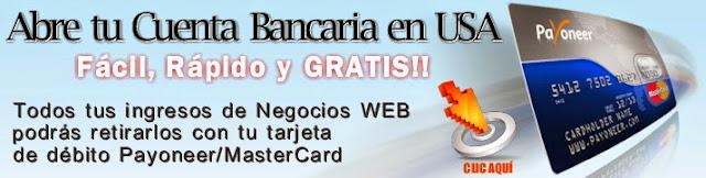 Tarjeta Payoneer Master Card para recolectar tus Ingresos