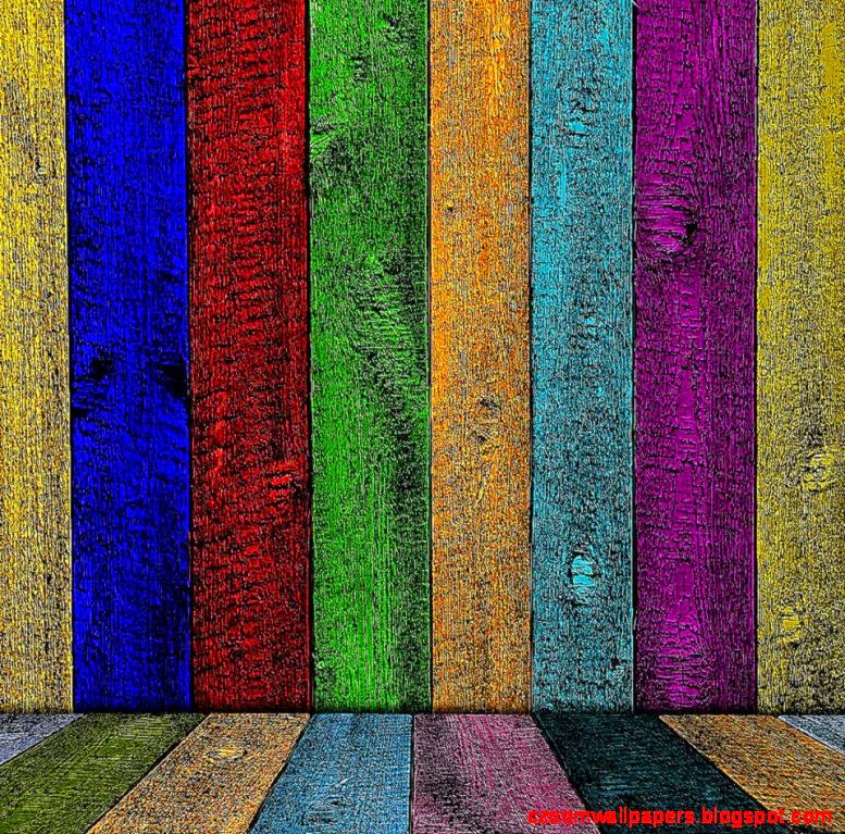 Rainbow Wood Android wallpaper HD
