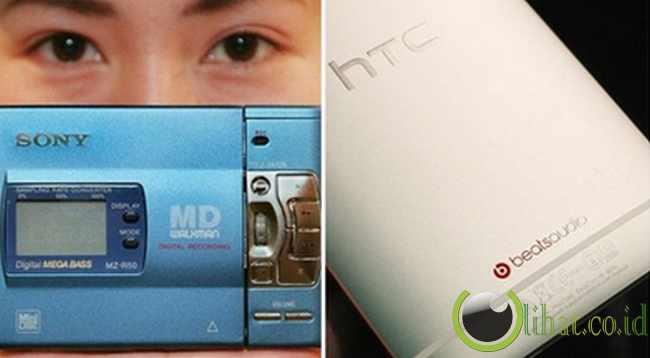 Dulu: Pemutar musik analog - Sekarang: iPod, telepon seluler