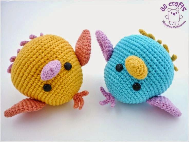 Amigurumi Crochet Animal Patterns : Amigurumi - Passarinhos! ~ Armarinho Sao Jose