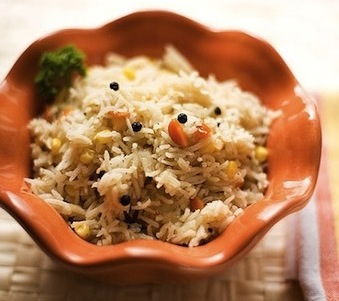 Black pepper spiced rice recipe by Indian Simmer featured on SeasonWithSpice.com