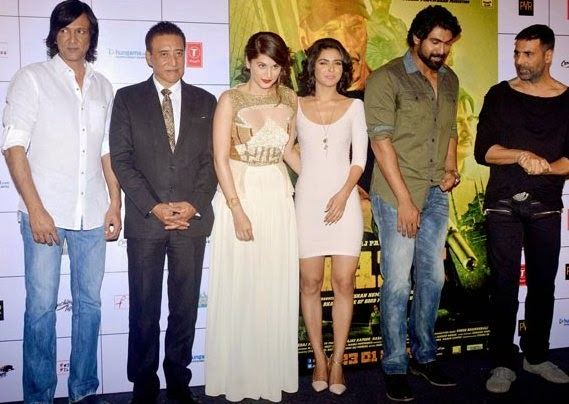 Akshay Kumar & Tapsee Pannu at Trailer launch of 'Baby'