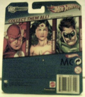 Back of The Flash Hot Wheels