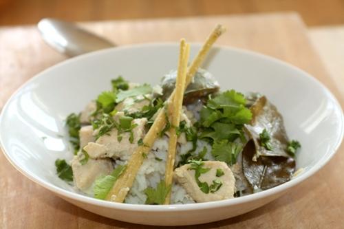 thai opskrifter kylling grøn karry