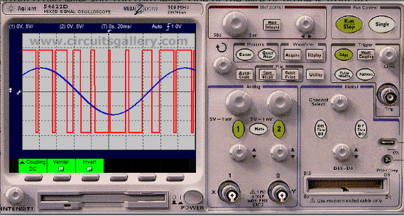 PWM+waveform+Simulation Pulse Width Modulation (PWM) generator circuit using 741 op amp comparator with output wave form