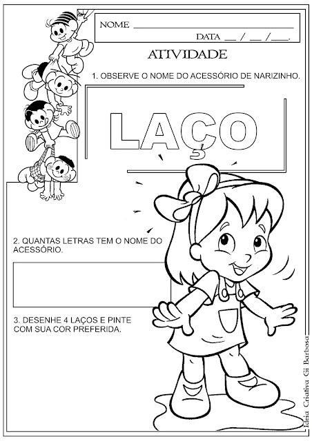 Atividade Sítio do Pica Pau Amarelo Matemática Educação Infantil