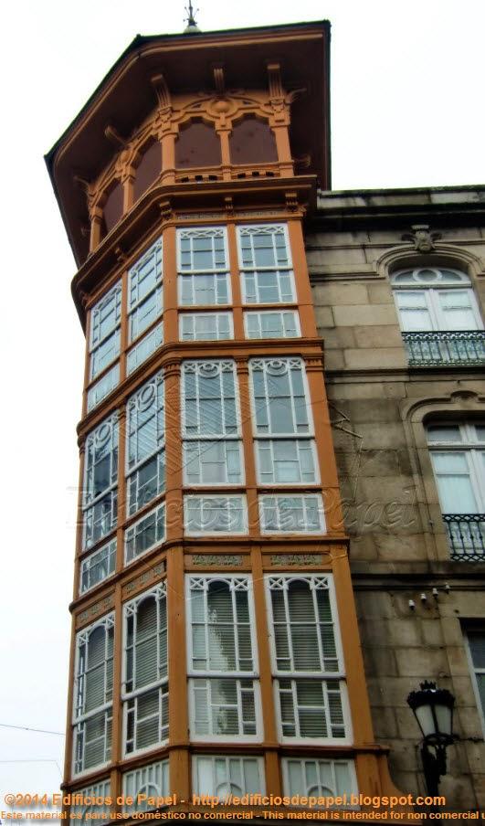 """Antiguo """"Gran Hotel Miño"""", de Vázquez Gulías"""