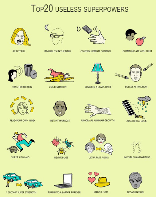 funny, funny picture, 20 useless super powers, comic, cartoon, super powers