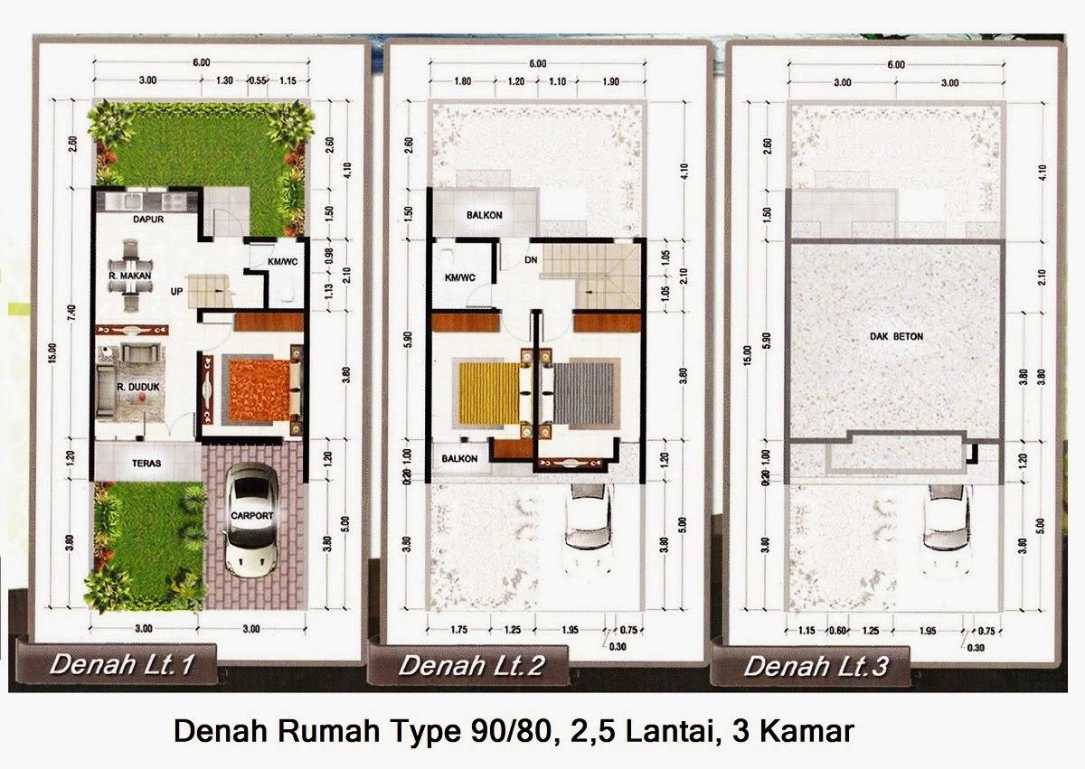 Desain Dan Denah Rumah Minimalis Type 90 Desain Denah Rumah